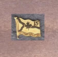OTTAWA CARLETON OLD FLAG GOLD PIN OF 15TH YEARS ANNIVERSARY