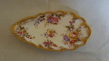 Dresden vintage Victorian antique clam shell shaped shallow dish / bowl B