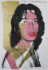 Andy Warhol-Mick Jagger-FIRMATO - 84,0 x 56,0 cm