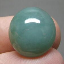 18.15 ct Genuine Jadeite Jade (Natural-Type A) Green-White Cabochon