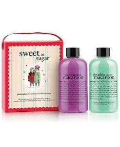PHILOSOPHY Sweet As Sugar Gift Set Black Currant Pistachio Cherry Macaroon NIB