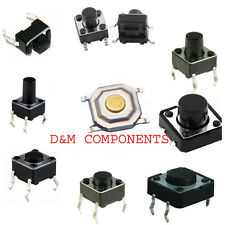 Quality Tactile Push Button  SPST Miniature/Mini/Small PCB Switch/Various Sizes
