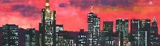 Skyline Frankfurt Gemälde Unikat Kunst Malerei modern Acryl 30 x 100 cm