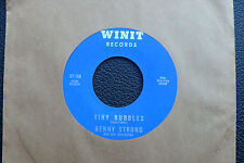"""7"""" Benny Strong - Tiny Bubbles/ The Girl From New York City - USWinit"""