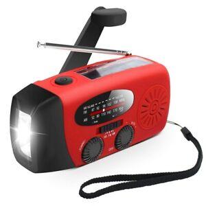 Emergency Solar Hand Crank Dynamo AM/FM/WB/NOAA Radio Outdoor Charger US