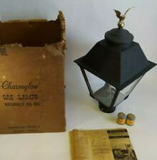 Charmglow Natural Gas Lantern Vintage 1968 Lamp w/ Brass Eagle Finial Nos
