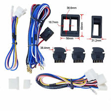 Universal Car SUV Window Switch Power Window Switcher With Wire Harness Kits 12V