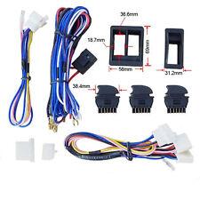 Universal Car SUV Window Switch Power Window Switcher With Wire Harness Kits 12V