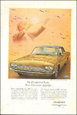 Vintage ad for 1966 Thunderbird Town Landau Ford Gold retro car photo    092717