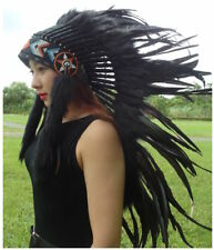 Indian Headdress Native American  Feather Hat Headdress  Feather  Warbonnet -M