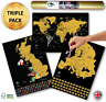 Global Walkabout Scratch Off World, Europe and UK Map with Flags background - UK