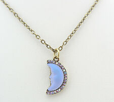 KIRKS FOLLY PETITE SEAVIEW MOON SHADOW NECKLACE BT/ TANZANITE CRYSTAL AB