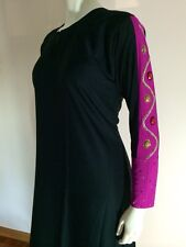 Simple Plain Khaleeji Abaya Arabic Jilbab With Hijab Size XL 60""