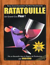 "TIN SIGN Walt Disney ""Ratatouille"" Pixar French Movie Poster Art Poster"
