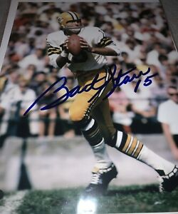 Green Packers Bart Starr 8x10 Photo Autographed Mounted Memories Hologram
