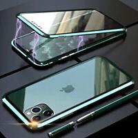 Coque Pour IPHONE 11 / Pro Max Aluminium Magnetica 360 Double Verre Trempé