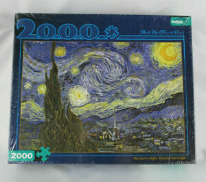 Buffalo Games THE STARRY NIGHT Vincent Van Gogh 2000 Piece Jigsaw Puzzle Sealed
