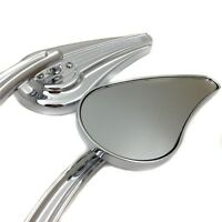 Aluminium Mirrors Fit For Harley CVO Road King Softail Street Glide DYNA CHROME