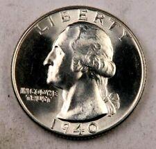 (1) 1940 Washington Quarter // Gem BU++ // 90% Silver // 1 Coin