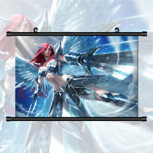 Fairy Tail Erza Scarlet HD Wall Art Poster Scroll Home Decoration