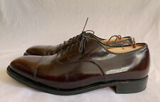 JOHNSTON & MURPHY OPTIMA BROWN LEATHER CAP TOE OXFORD DRESS SHOES SIZE 11 B/2A