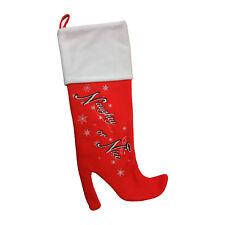 Ladies High Heel Christmas Stocking | with Naughty or Nice embroidery