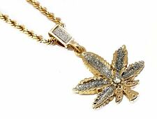 18k Gold Plated Marijuana Pendant Fashion Necklace