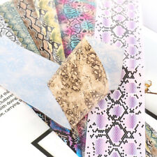 10 pcs 20X4 cm Snake Print Snake skin Nail Art Foil Transfer Decals Manicure