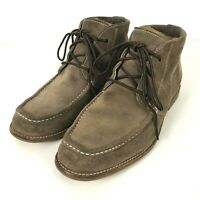UGG Via Lungarno Chukka Boots Shoes Mens Size 10 Brown Moc Toe Lace Up 1000715