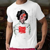 Rebel Rebel T Shirt Princess Leia Carrie Fisher Star Sexy Wars Gift Top Tee 5012