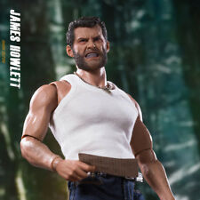 Custom 1/6 Scale Logan Angry Head Sculpt For Hot Toys Wolverine Figure Body New