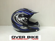 CASCO OFF ROAD CROSS MOTARD ENDURO QUAD VEMAR VPC ALTAIR DEVIL BLU TAGLIA XS