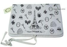 New LADUREE Travel Organizer Pouch Bag L.Gray Eiffel Tower JAPAN-Limited Rare!
