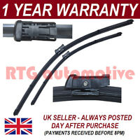 """FOR VW POLO MK6 2009 ON DIRECT FIT FRONT AERO WIPER BLADES PAIR 24"""" + 16"""""""