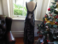 GORGEOUS BETTINA LIANO NWT $150 NEW EMBELLISHED DECO PLUNGE BACK BLURR DRESS M