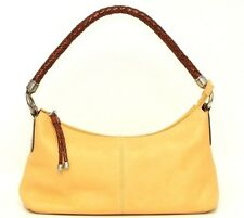 Fossil Genuine Leather Saffron Yellow Shoulder Bag Purse