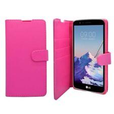 Fundas y carcasas color principal rosa de piel sintética para teléfonos móviles y PDAs LG