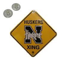 "Nebraska Cornhuskers Metal Nebraska University Huskers Xing Crossing Sign 6""x6"""