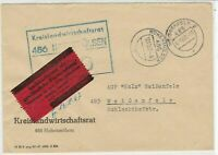 Germany DDR Z K D 1967 Central Courier Weissenfels Cancel Stamps Cover Ref 24400