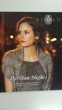 Rowan Parisian Nights Knitting Book 12 Designs to Knit 75 Pages