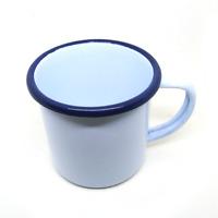 330 ml white enamel mug camping enamelware coffee cup tea vintage beer glass