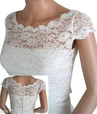 Womens Ivory or Black Lace  Briidal Jacket Bolero Sizes 8 to16 Lowlita Designs