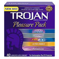 Trojan Premium Condoms Pleasure Pack 40 Count
