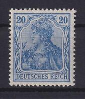 DR 87 II c 20 Pfg. Germania gute Farbe kobalt postfrisch geprüft (bt264)