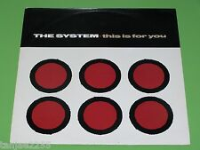 The System - This is for you / Love won't wait for lovin' - 1985 Maxi 12""