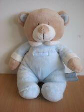doudou Ours Teddy Baby bleu beige blanc
