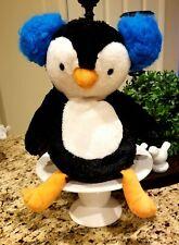 Scentsy Buddy Plush Percy the Penguin Stuffed Animal Blue Earmuffs