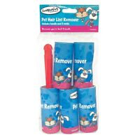 10 PACK ROLLS STICKY LINT REMOVER ROLLER CAT PET DOG HAIR DIRT CLOTHES FURNITURE