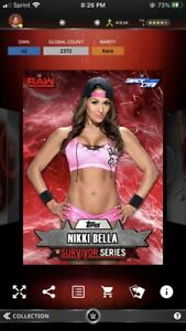 Topps WWE Slam *Digital* 2016 Survivor Series Red Base  - Nikki Bella 2372cc