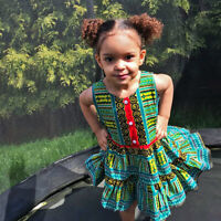 kids African Dashiki girls dress for all occassion